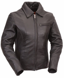 Women's Clean Cruiser Leather Jacket Clean Look - HighwayLeather