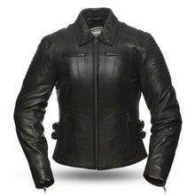 Womens Aniline Cowhide Clean Curvy Motorcycle Jacket FMC Speedy - HighwayLeather