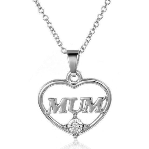 Simple heart shaped pendant for your mum image of simple heart shaped pendant for your mum aloadofball Image collections