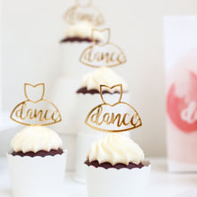 Dance Cupcake Toppers (set of 4)