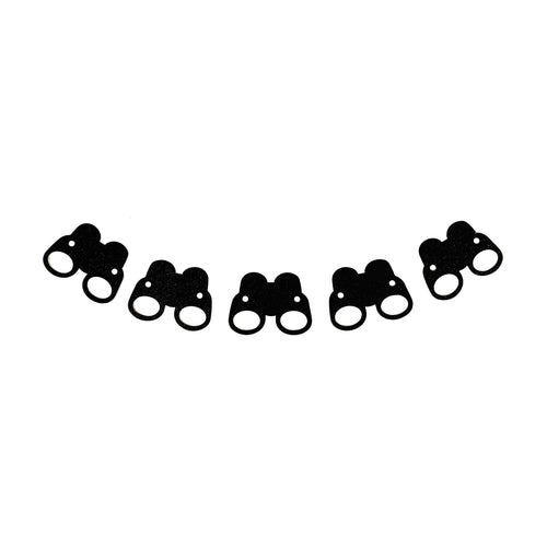 Black Glitter Safari Garland