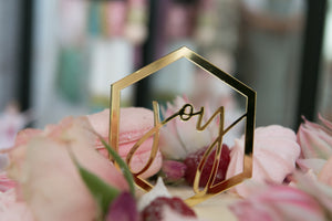 Ornament / Tag - Joy Script (Set of 4)
