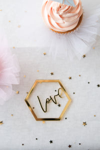 Ornament / Tag - Love Script (Set of 4)