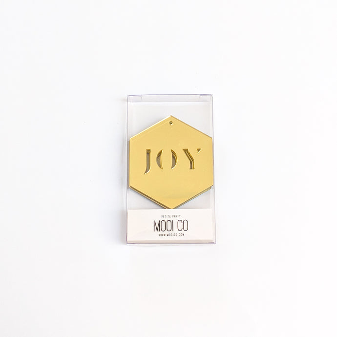 Ornament / Tag - JOY (Set of 4)