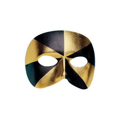 Masked Ball Black/Gold Eye Mask - Carnival Store