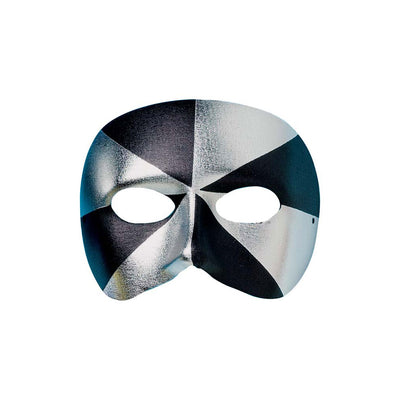 Masked Ball Black/Silver Eye Mask - Carnival Store