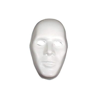 Male White Robot Mask - Carnival Store