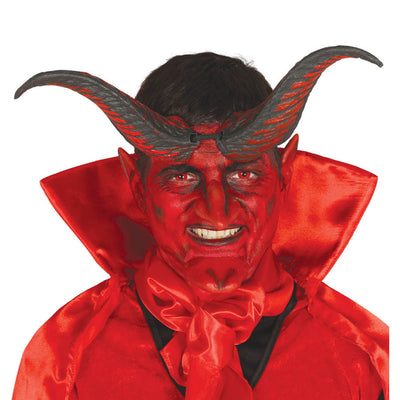 Hörner Horn Teufel Dämon Rot Halloween Horror Party Ungeheuer Monster | Demon Horns 20 Cm