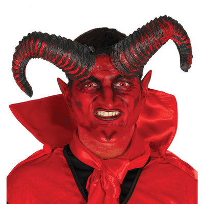 Hörner Horn Teufel Dämon Rot Halloween Horror Party Ungeheuer Monster | Satan Horns 20 Cm