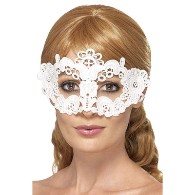 Stickte Spitze filigran Eyemask | Embroidered Lace Filigree Floral Eyemask