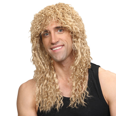 Rockstar Wig Black and Blonde - Carnival Store
