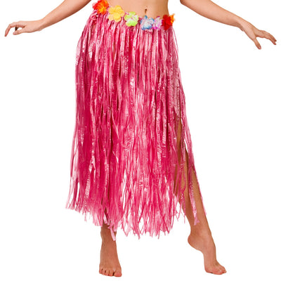 Hawaiian Hula Skirt 80cm 5 Colours - Carnival Store