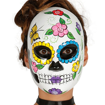 Maske Tag der Toten, Frau | Woman Day Of The Dead Mask