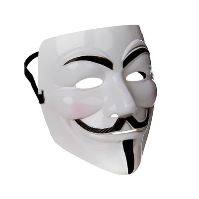 White Anonymous Mask - Carnival Store