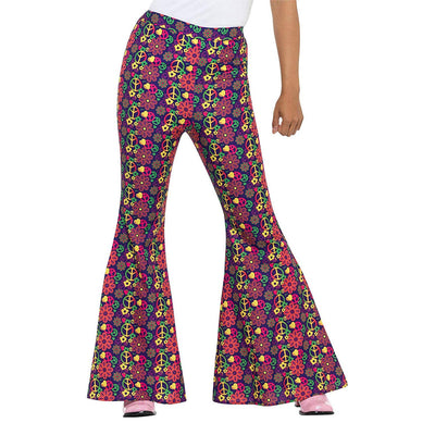 60er Psychedelic CND Schlaghose Damen | 60s Psychedelic CND Flared Trousers Ladies - carnivalstore.de