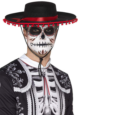 Day Of The Dead hilft Hat | Day of the Dead Senor Hat - Carnival Store