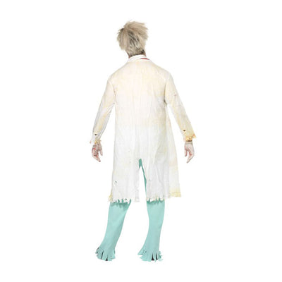 Zombie Doctor Costume, White and Green - Carnival Store