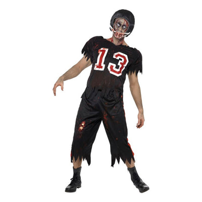 High School Horror Zombie American Footballer Costume - Carnival Store