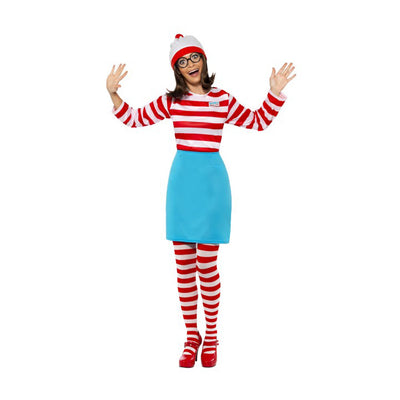 Damen Wo ist Wenda-Kostüm | Where's Wally Wenda Costume - carnivalstore.de