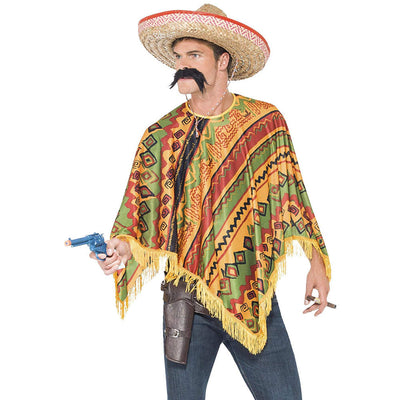 Herren Poncho Sofort Kit | Poncho Moustache Orange