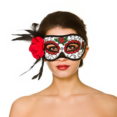 Deluxe Day of the Dead Eyemask - Carnival Store