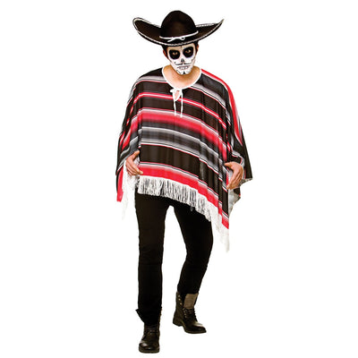 Day of the Dead Bandit Poncho - carnivalstore.de