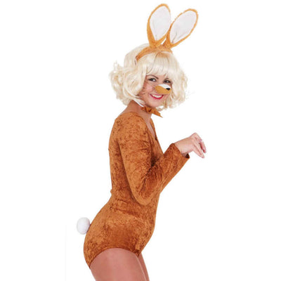 Rabbit Set, Brown (Ears,Nose,Bow Tail) - Carnival Store