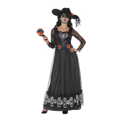 Damen Tag der Toten Braut Kostüm | Day of the Dead Skeleton Bride Costume - carnivalstore.de