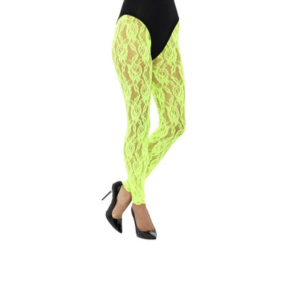 Damen 80er Jahre Spitzen Leggings | 80's Lace Leggings - carnivalstore.de