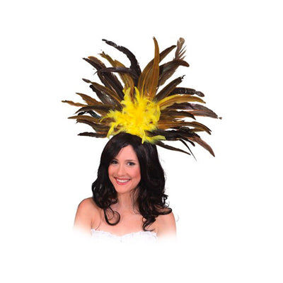 Carnival Headdress Yellow - Carnival Store