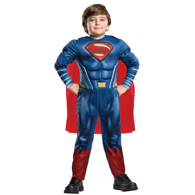 DC Justice League Deluxe Superman, Kinderkostüm | Deluxe Superman - Carnival Store