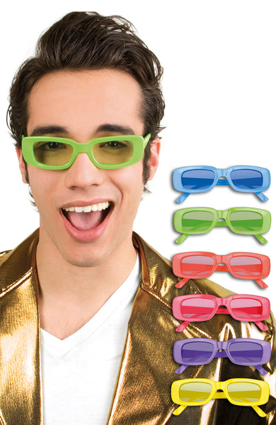 Glasses Eddie Neon Assorted Colours - Carnival Store