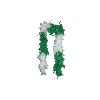 Green & White Feather Boa - Carnival Store