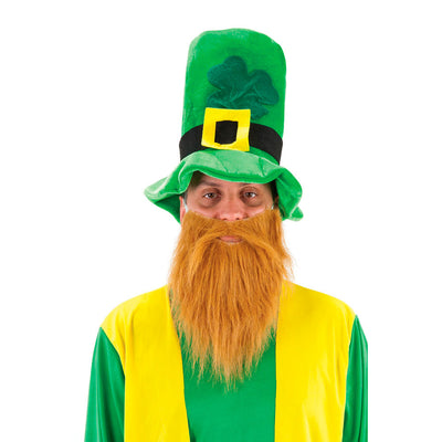 Leprechaun Hat With Beard - Carnival Store