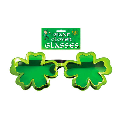 Giant Shamrock Glasses - Carnival Store