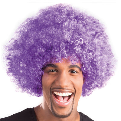 Afro Wig Purple - Carnival Store