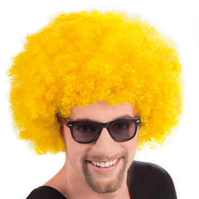 Afro Wig Yellow - carnivalstore.de