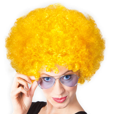 Afro Wig Yellow - Carnival Store