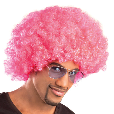 Afro Wig Pink - Carnival Store
