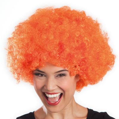 Afro Wig Orange - Carnival Store