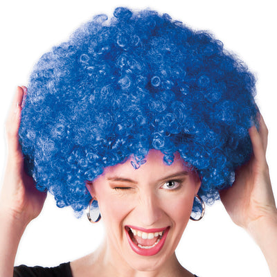 Afro Wig Blue - Carnival Store
