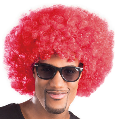 Afro Wig Red - Carnival Store