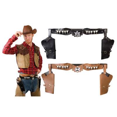 Double Holsters Sheriff 2 Colours ass. - Carnival Store