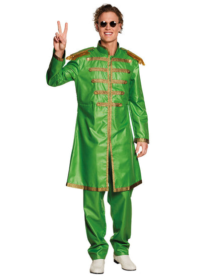 Sergent Papper Costume Green - Carnival Store