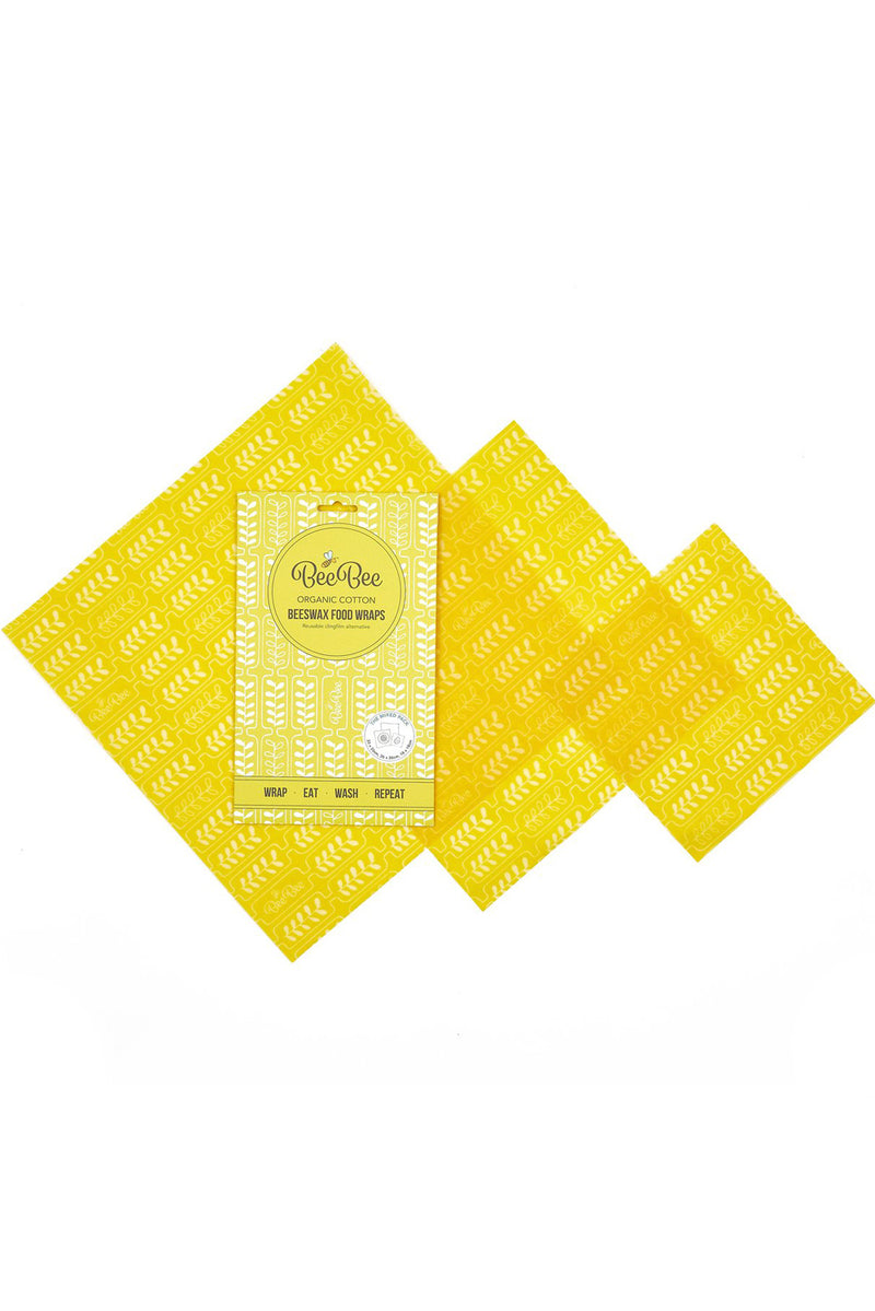 Beeswax Wraps Mixed Pack 3PC