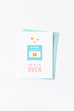 NEW BABY CARD—Bun in the Oven