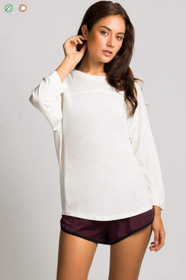 Crop Sleeve Layer Top