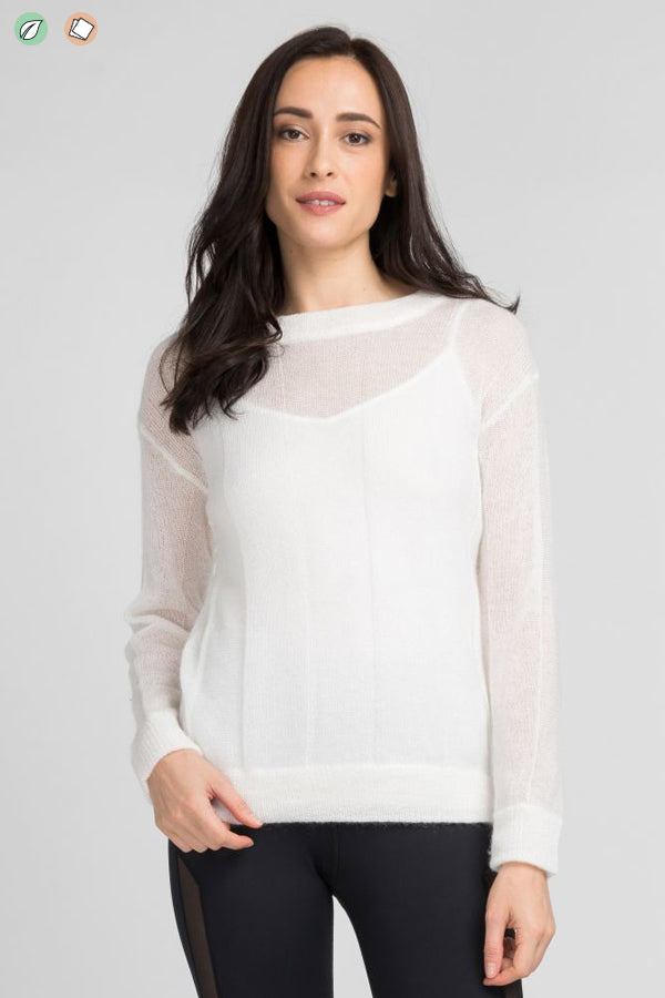 Delicate Mohair Knit Sweater