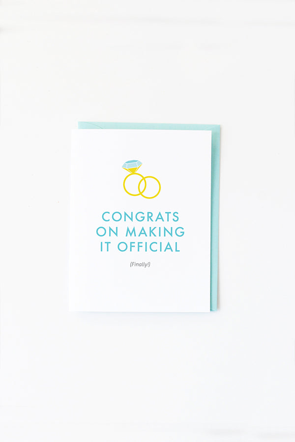 WEDDING CARD—Congrats on Making It Official