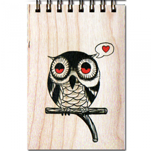 Owl Wood Notepad